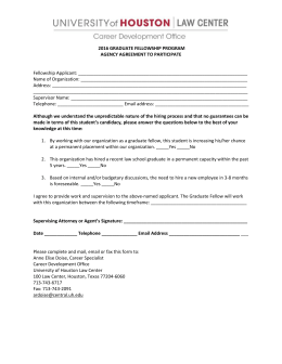 Agency Agreement Form - University of Houston Law Center