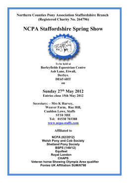 Northern Counties Pony Association Staffordshire Branch