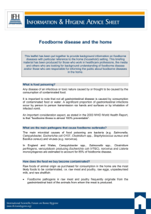 Foodborne disease and the home