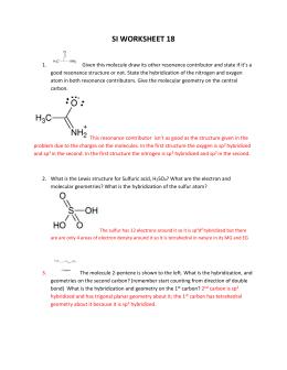 Molecular Geometry Worksheet