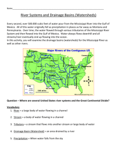 River Systems and Drainage Basins (Watersheds)