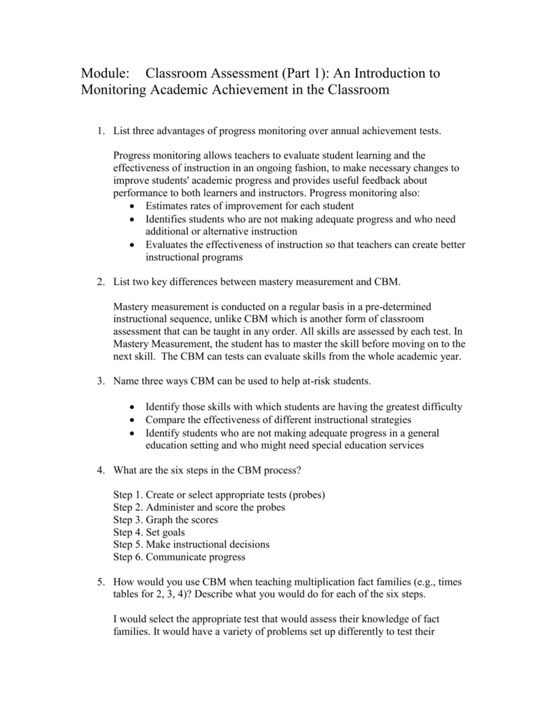 introduction of achievement test