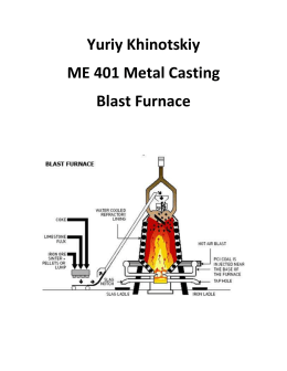 Blast Furnace - Metal Casting Theory and Design