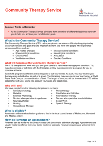 Community Therapy Services - The Royal Melbourne Hospital