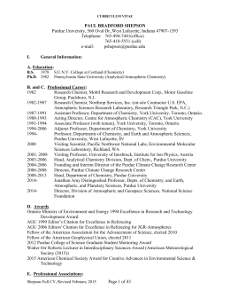 Curriculum Vitae - College of Science