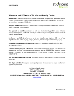 client rights information - St. Vincent Family Centers
