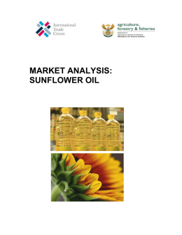Market Analysis: Sunflower oil - Department of Agriculture, Forestry