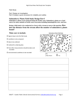 Salmonberry Plants Field Study Design Part I