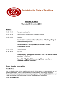 Meeting Agenda 26th November 2015 - The Society for the Study of