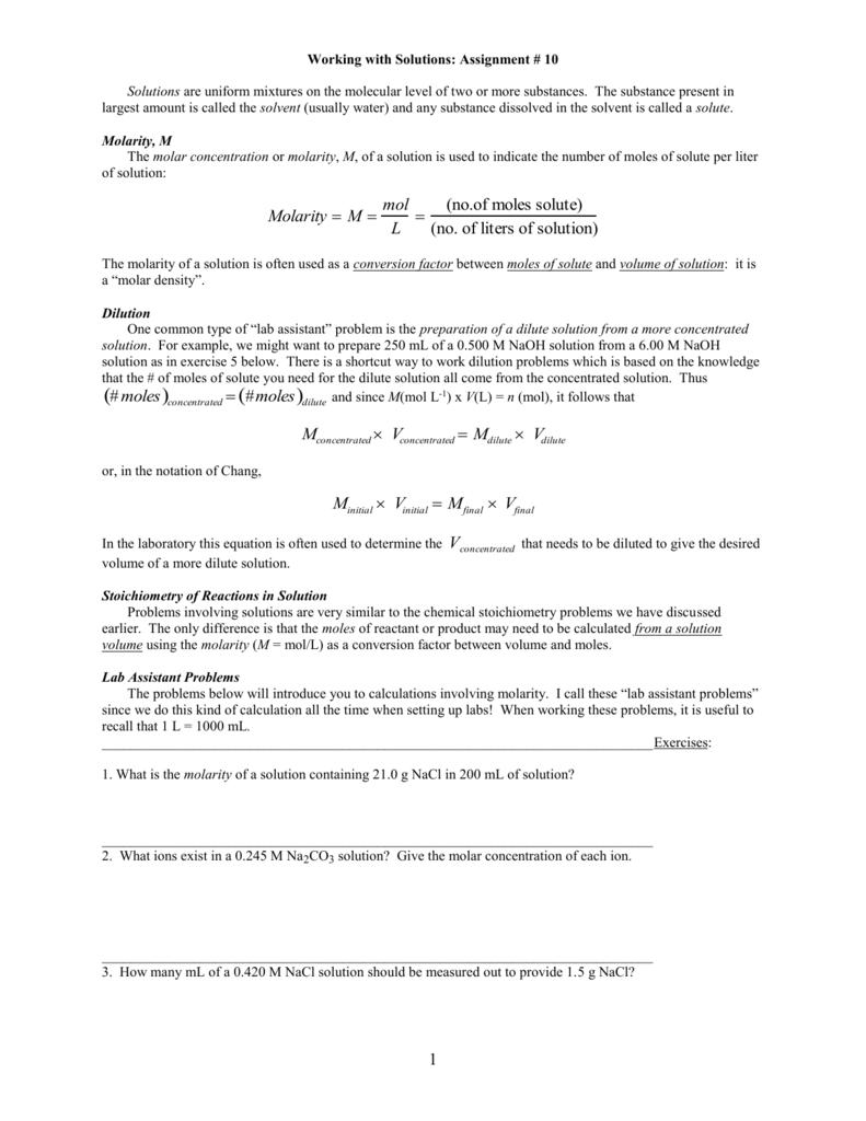 Chapter 4 Worksheet