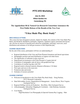 Utica Shale Play Book Study - Appalachian Oil and Natural Gas