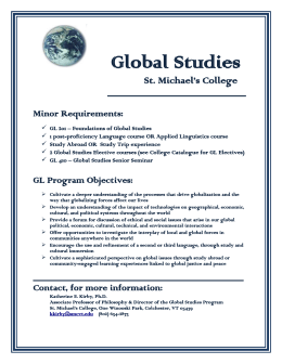 Global Studies Requirements