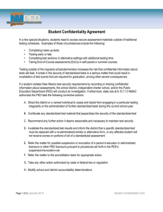Student Confidentiality Agreement