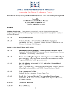 to read Workshop agenda - EveryLife Foundation for Rare Diseases