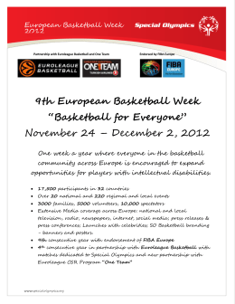 9th European Basketball Week