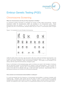 Chromosome Screening