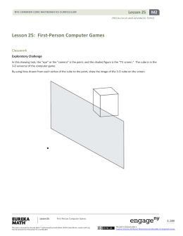 Lesson 25: First-Person Computer Games