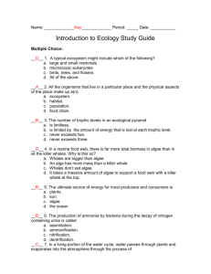 chapter 18 SG ANSWERS (Intro to Ecology)