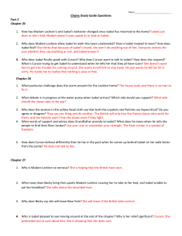 Chains Study Guide Questions