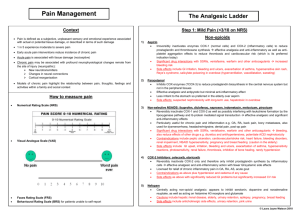 Pain Management The Analgesic Ladder