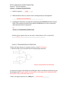 EC312: Applications of Cyber Engineering Exam #1 – Review