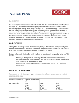 CCAC`s Action Plan from the 2013 Institute on High