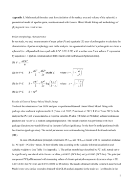 Appendix 1. Mathematical formulas used for calculation of the