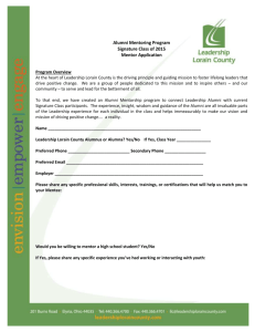 Mentor Application - Leadership Lorain County