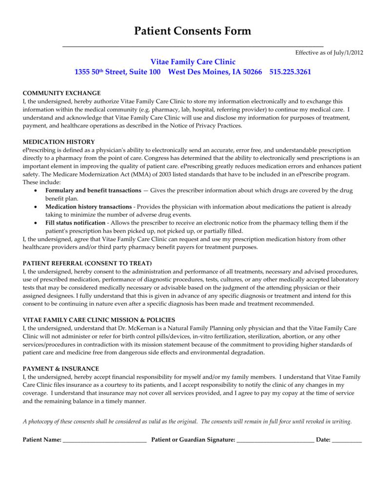 Patient Consents Form on patient medicare co-pays, patient co-pay receipt, patient advocate letter, patient co-pay cartoons, patient access network, patient day sheet, patient benefits,