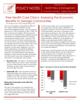 Free Health Care Clinics: Assessing the