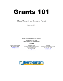 Grants 101 training documentation and resources
