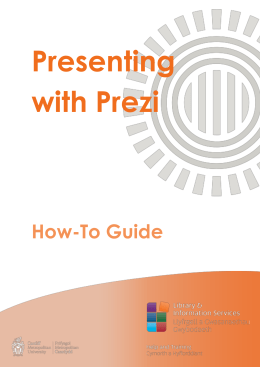 How-To Guide Presenting with Prezi