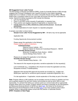 NIH Cover Letter Template