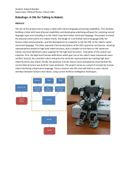 Robolingo: A CNL for Talking to Robots