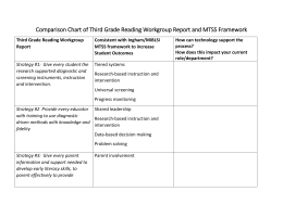 Comparison Chart of Third Grade Reading Workgroup
