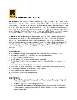 Grant Writing Internship - International Rescue Committee