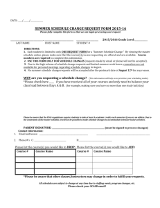 summer schedule change request form 2015-16