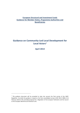 Guidance on CLLD for local actors 16-04