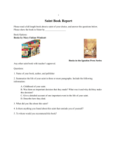 Saint Book Report