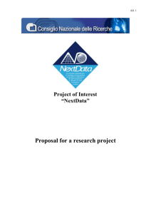 "All. 1 All. 1 Project of Interest ""NextData"" Proposal for a research"