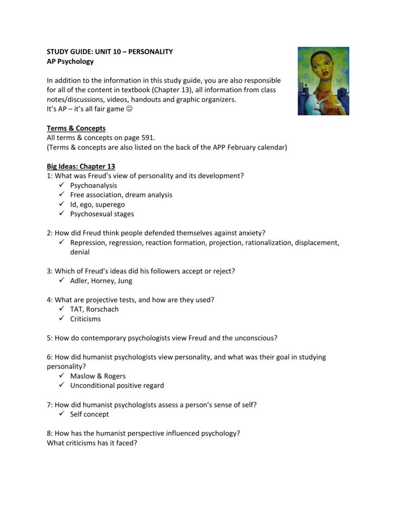 personality psychology 10 essay