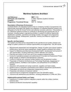 Maritime Systems Architect