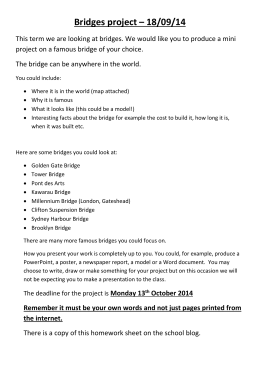 Bridges project2 - The John Harrox Primary School Blog!