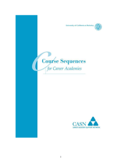 Course Sequence Examples - CASN