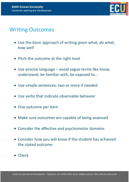 Writing outcomes