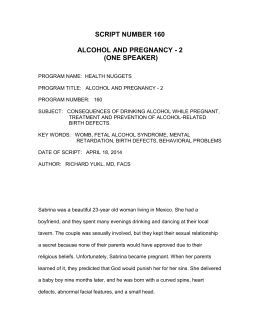 script number 160 alcohol and pregnancy