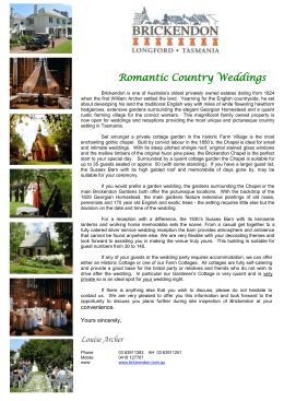 Romantic Country Weddings