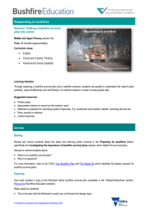 Putting a bushfire survival plan together.