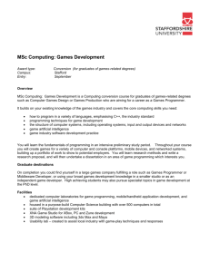 MSc Computer Science - Faculty of Computing, Engineering and