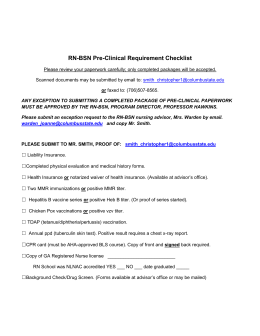 RN-BSN Pre-Clinical Requirement Checklist